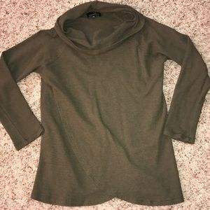Sweaters - Olive cowl neck long sleeve